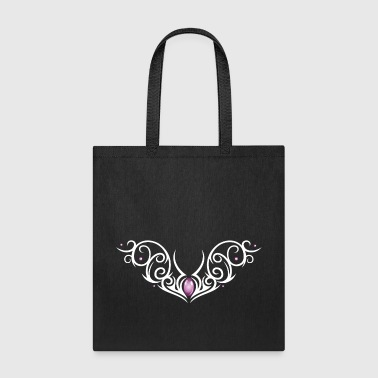 Tattoo tribal ornament with colorful effects. - Tote Bag