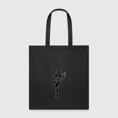 BDSM_woman_with_long_leather_black - Tote Bag