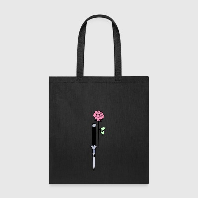 knife and rose - Tote Bag