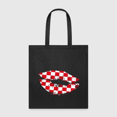 Croatia Kiss Mouth - Tote Bag