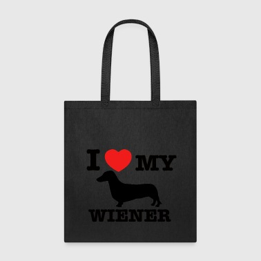 I love my wiener - Tote Bag