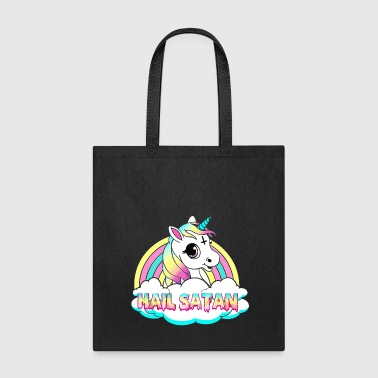 Unicorn hail satan death metal rainbown - Tote Bag