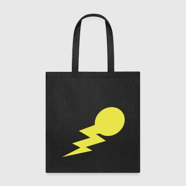 lightning bolt comet with a tail - Tote Bag