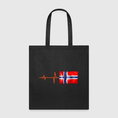 Heartbeat Norway flag gift - Tote Bag