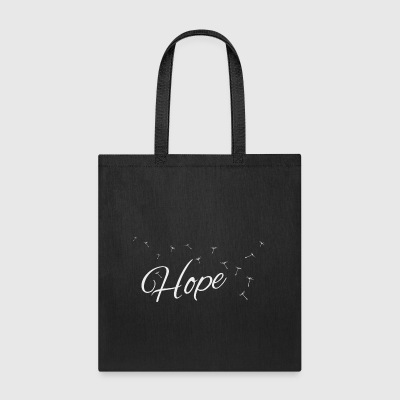 pure hope flying dandelion seeds air fly gift - Tote Bag