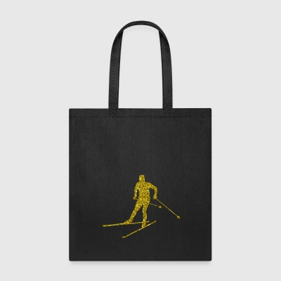 Golden Cross-country skiing - Tote Bag
