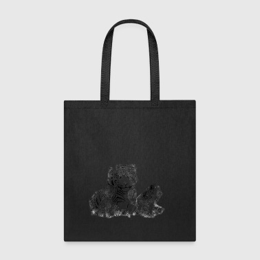 tiger mom with cubs - Tote Bag