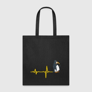 Heartbeat Penguin gift - Tote Bag