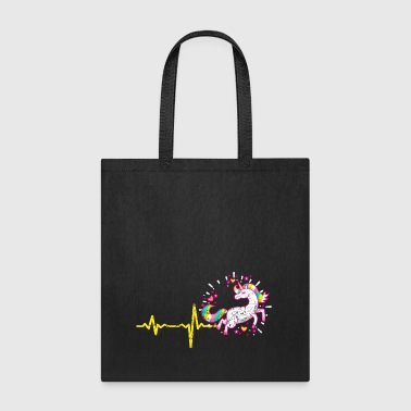 gift heartbeat unicorn vintage - Tote Bag