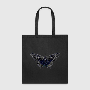 Butterfly Geometry Present Art Design Black - Tote Bag