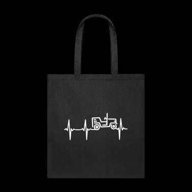 Heart Beat Jeep - Tote Bag
