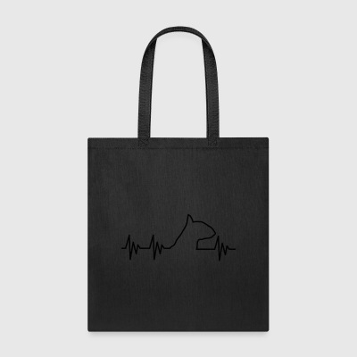 Love Bullterrier Terrier Hund Dog EKG - Tote Bag