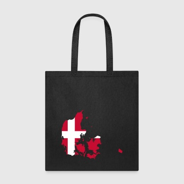 Denmark Danish Flag Shape Scandinavia Holiday Gift - Tote Bag