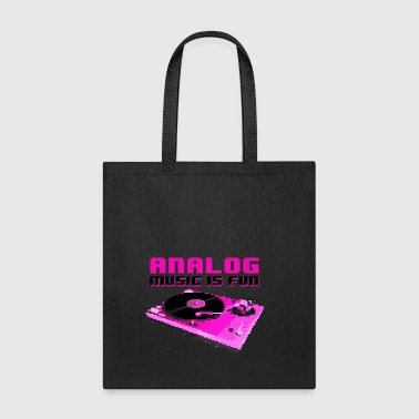 ANALOG MUSIC IS FUN - Tote Bag