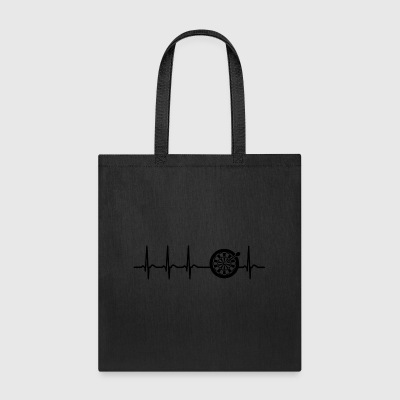 Heartbeat darts arrow champion fun cool geek gift - Tote Bag