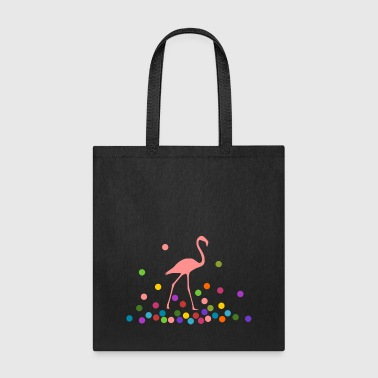 Flamingo with colorful balls - Tote Bag