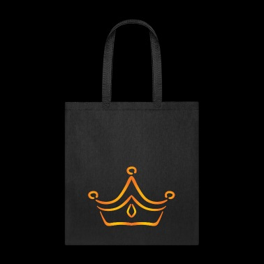 Vip golden crown logo monarch king vector image - Tote Bag
