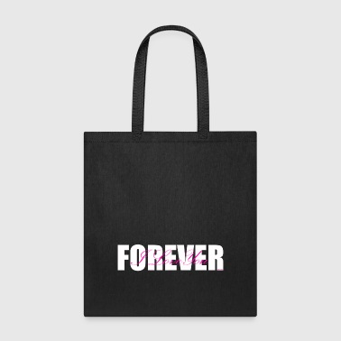 I LOVE YOU FOREVER Pink and White - Tote Bag