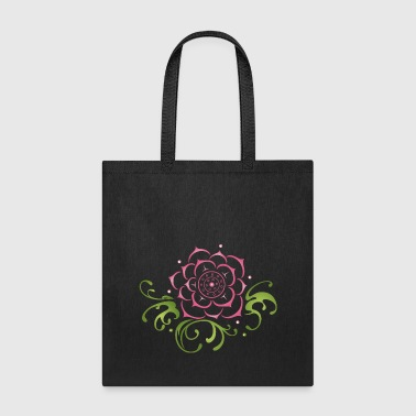 Lotus flower with filigree tribal. Yoga. - Tote Bag