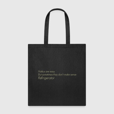 The Flash Cisco s shirt Haikus are easy but - Tote Bag