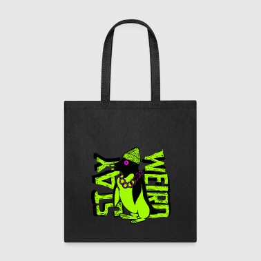 Stay Weird - Crazy Gangster Penguin - Tote Bag
