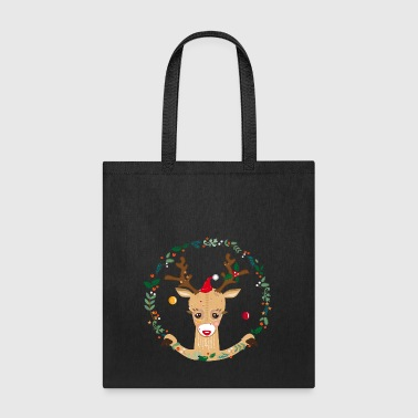 A reindeer in the Christmas time - Tote Bag