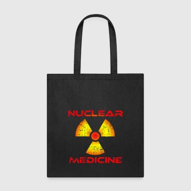 Nuclear Medicine, Red and Yellow Radioactive Logo - Tote Bag