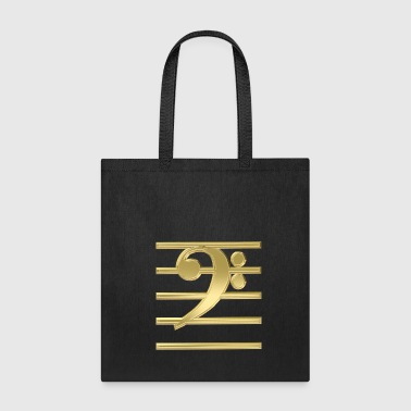 Golden bass clef - Tote Bag