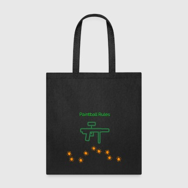 PaintBall Rules - Tote Bag