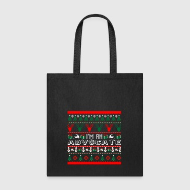 I Am Advocate Christmas Ugly Sweater - Tote Bag