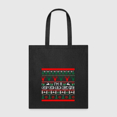 I Am Coder Christmas Ugly Sweater - Tote Bag