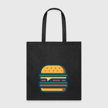 hamburger cheeseburger fastfood barbecue bbq essen - Tote Bag