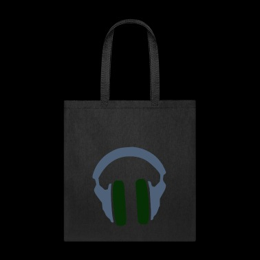 Music Headphones Song Present Gift Green - Tote Bag