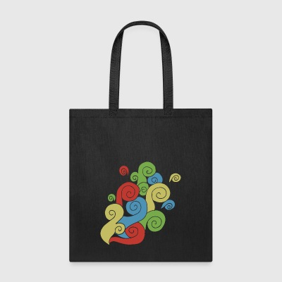 Bright Color Swirls - Tote Bag