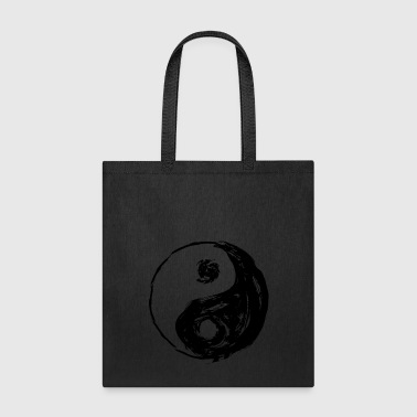 Yin Yang roughly painted, with gaps - Tote Bag