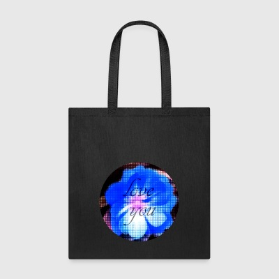 I love you flower blossom blue romantic rose - Tote Bag