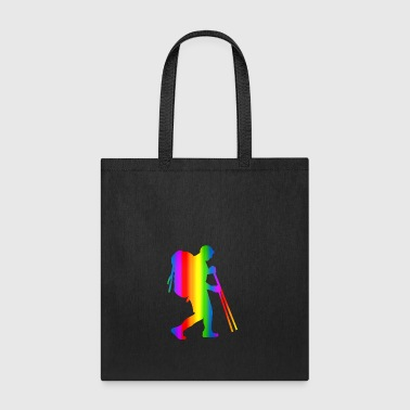 Colorful Hiking Rainbow - Tote Bag