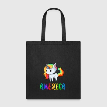 America Unicorn - Tote Bag
