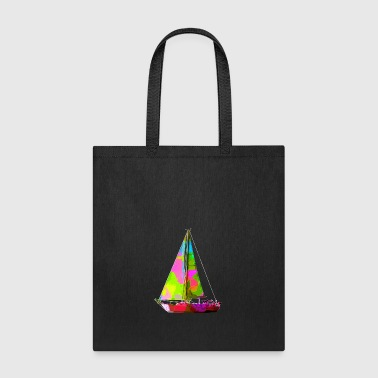 Colorful Sailboat - Tote Bag