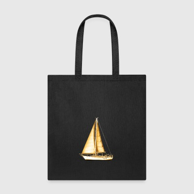 Golden Sailboat - Tote Bag