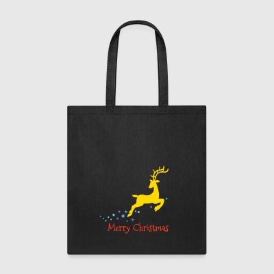Rudolph Red Nosed Reindeer Merry Christmas - Tote Bag