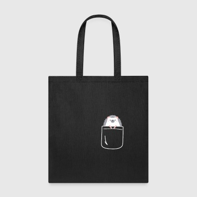 Cute Hedgehog In Your Pocket Funny Animal - Tote Bag