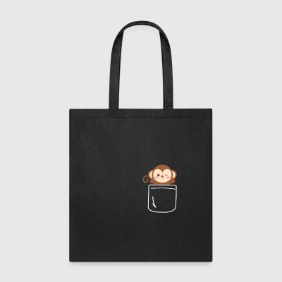 Monkey In Your Pocket Blush Cute Animal - Tote Bag