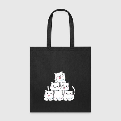 Funny Pyramid Stack Cats Cat Lovers Gift - Tote Bag