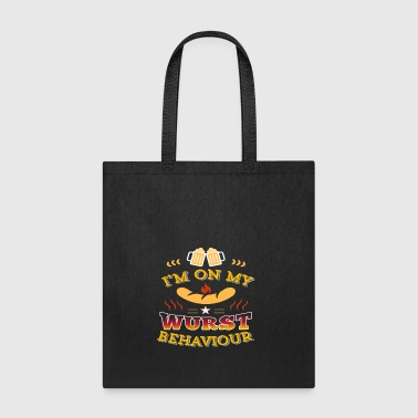Wurst Behavior Oktoberfest T Shirt Funny German - Tote Bag