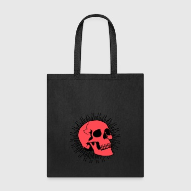 Red Skull Burst - Tote Bag