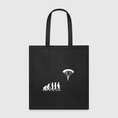Funny Parachute Evolution - Tote Bag