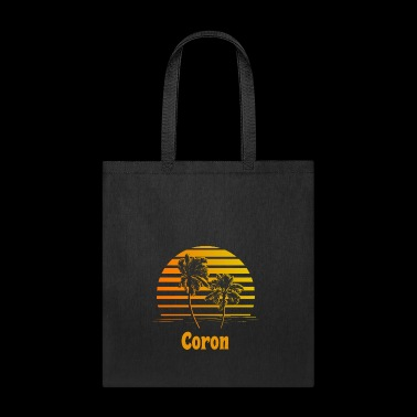 Coron Philippines Sunset Palm Trees - Tote Bag