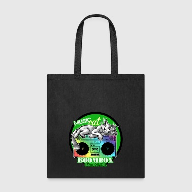 Boombox Crown CSC 850L with Music Cat - S83 - Tote Bag