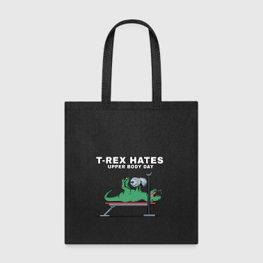 T-Rex, Dinosaurs, workout, t rex, gym, training - Tote Bag